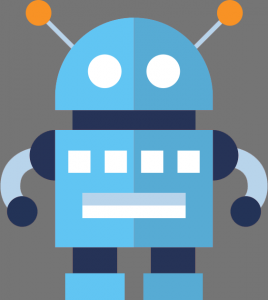 A graphic of a robot.